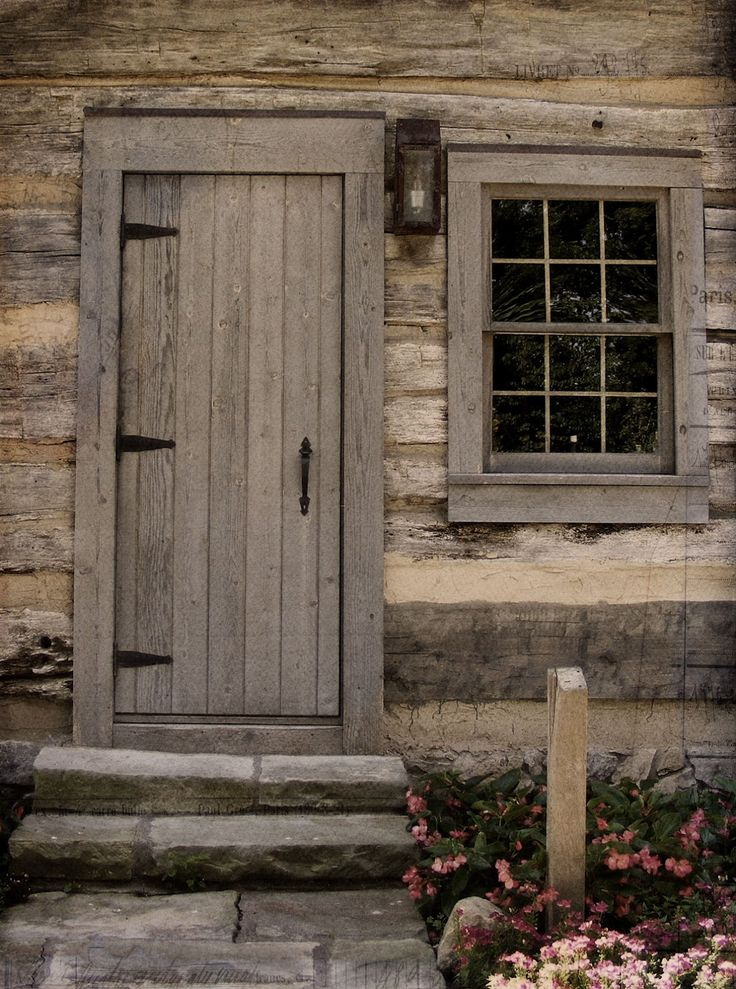 Old log cabin doors | There were no guides to regale with facts and fables so we read the ...