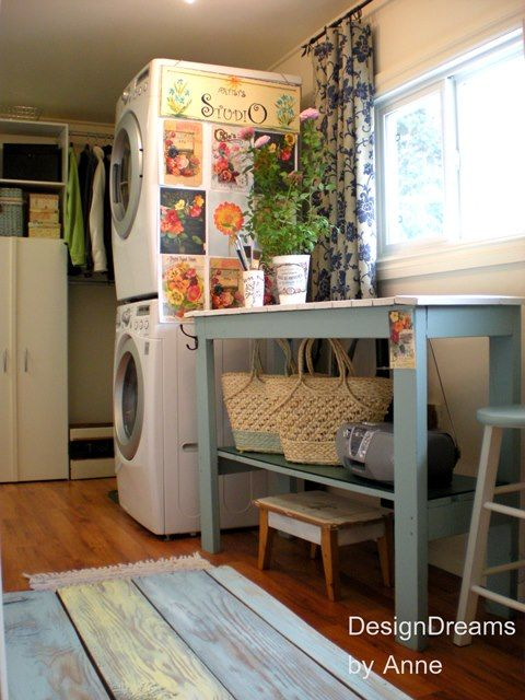 Garden room laundry makeover make your own folding table w for Build your own garden room