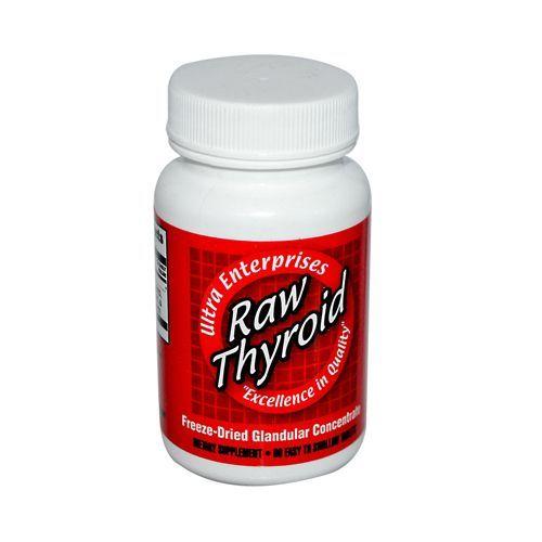 Ultra Glandulars Raw Thyroid 90 Tablets