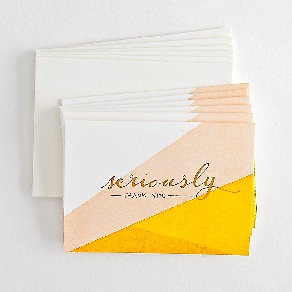 Envelopes x10 Cream /& Gold Blank /'Style/' Wedding Thank You Cards