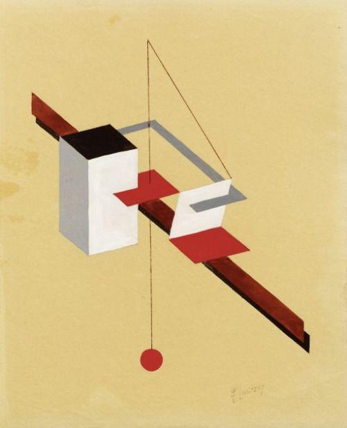 """trefoilknut: """" Эль Лисицкий, чертеж периода Проуна, 1922-1923 гг. (© Galerie Fischer Auktionen) """""""