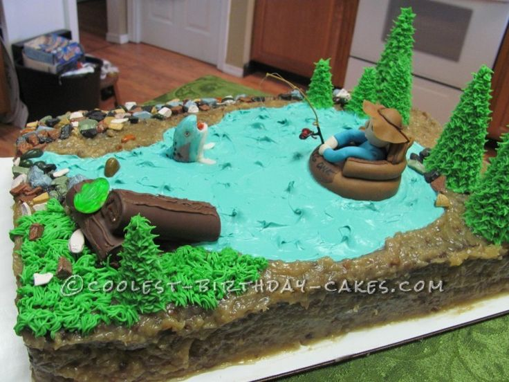 Float Tube Fishing Cake ... This website is the Pinterest of birthday cakes