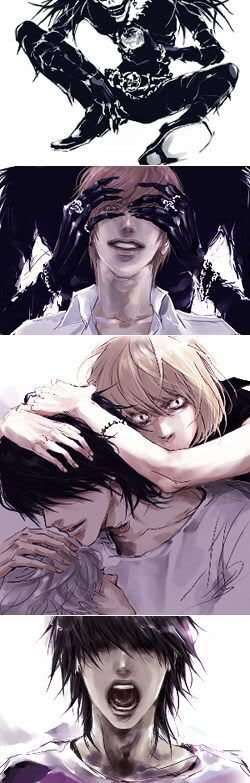 I pinned this just because of Mello's pic. It's maybe the most accurate psychological drawing regarding his attachment to L I've ever seen. Both his glare and body language scream that he would be able to kill or die to avenge him.