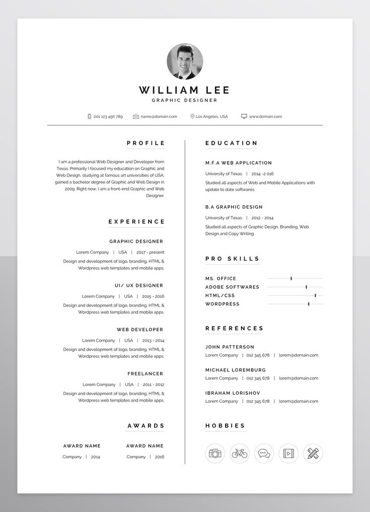 a simple  clean  minimal and professional design of resume  cv template for people who want to