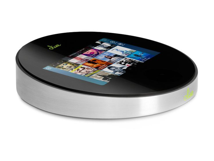 Olive One - An HD music player featuring a touchscreen that can stream music or play up to 6,000 albums in CD quality or 20,000 HD tracks from the optional hard drive.