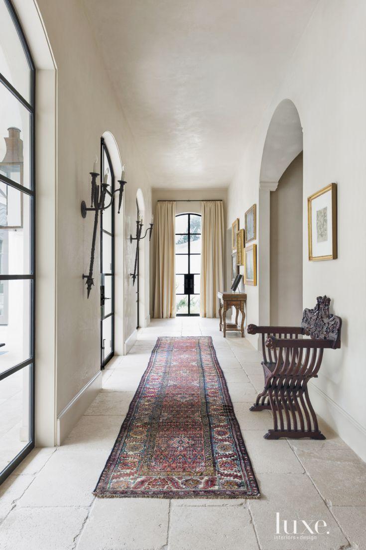 Mediterranean Cream Tiled Hallway