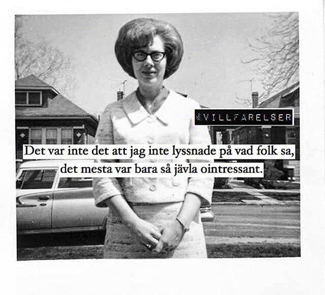 """Ointressant"" #villfarelser #ointressant"