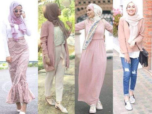 pink-hijab-outfits- Hijab fashion gallery http://www.justtrendygirls.com/hijab-fashion-gallery/