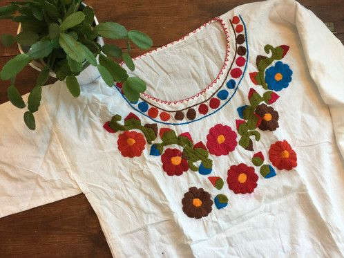 Embroidered Mexican Blouse $27.00 USD Free shipping US