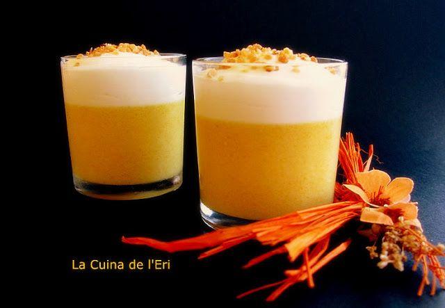 La Cuina de l'Eri: Mousse de préssec, pinya i iogurt