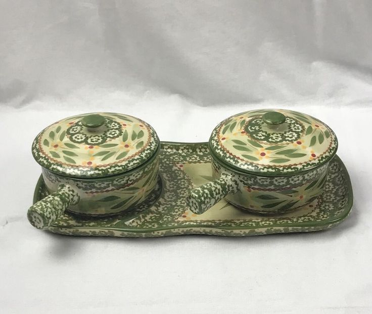 Temp-tations by Tara Ovenware Old World Green 5 pc. Soup & Sandwich Tray #Temptations
