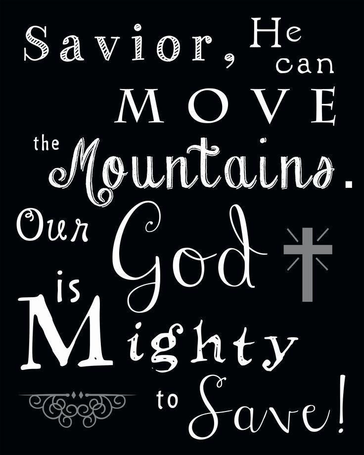 Mighty to Save (Free Printable)   Worship   Worship songs ...   Christian Song Lyrics Quotes