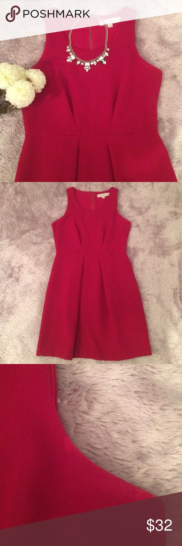 LOFT Dress This elegant, red dress is perfect for the office, and event, or a holiday party. It's in great condition except for a small discoloration on the left strap. Feel free to make an offer using the offer button! LOFT Dresses Mini