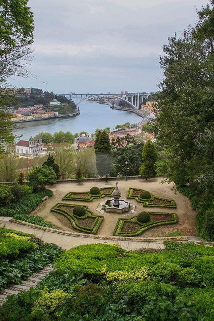 Palácio de Cristal gardens and Douro river. Porto - Portugal