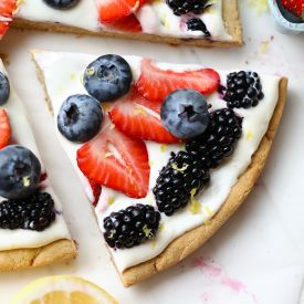 How to Make a Healthy Fruit Pizza - Fit Foodie Finds