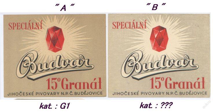 PEMD 1 ks stará etiketa GRANÁT 15° BUDVAR B (6395923633) - Aukro - největší obchodní portál