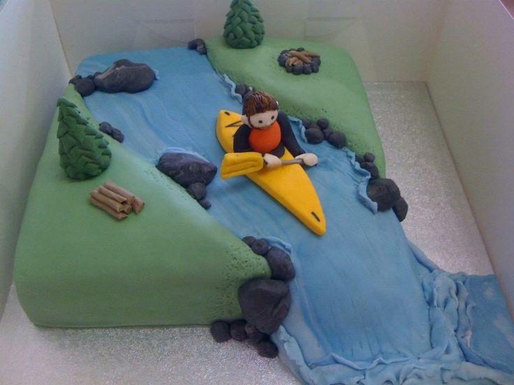 Kayaking cake