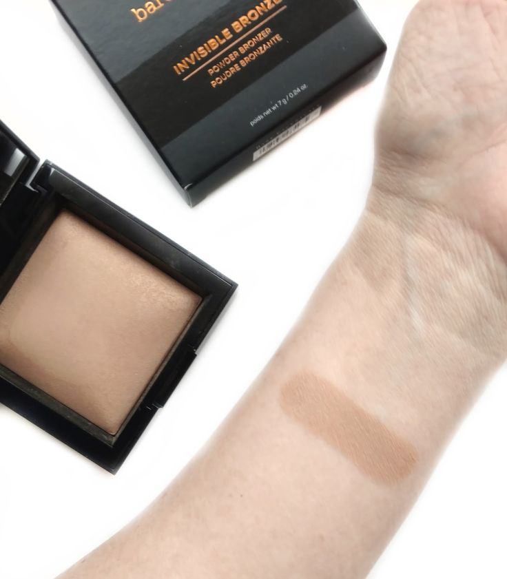 bareminerals invisible bronze swatches