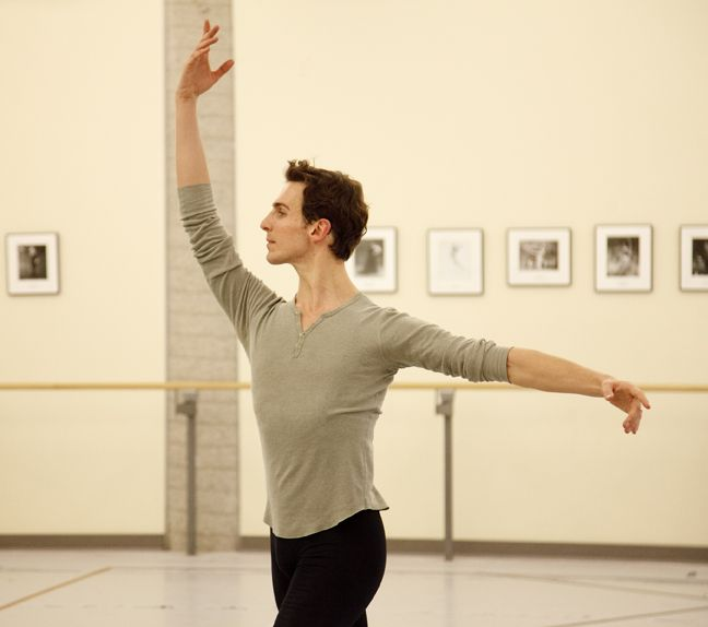 Evan McKie in rehearsal for The Sleeping Beauty. Photo by Bruce Zinger.