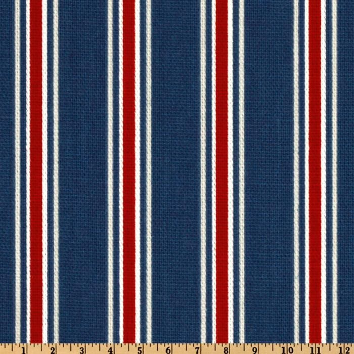 Carter's cornice? Fabric.com - Premier Prints Trey Stripe Blue/Red $6.36
