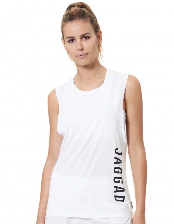 Women's White Muscle Tank - Jaggad