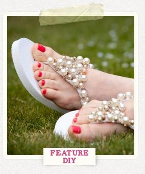 Flip Flops DIY Project http://www.trinketsinbloom.com/wearable-diy/diy-beaded-flip-flops/
