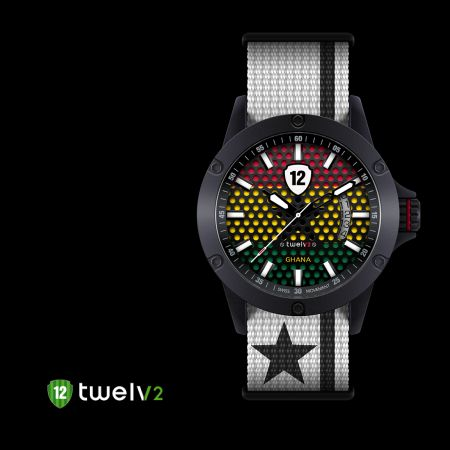 Support #Ghana national #football #team by wearing its #watch from #Twelv2 #2014Collection! In addition to the trendy designs, all #watches are equipped with #Swiss made movements, Ronda caliber 505 & 515 also comes in 2 case sizes, big (44mm) and medium (39mm), in addition to 2 variations in #straps. For more info visit our website :) #Twelvwatch #Twelv2 #fashion #watchoftheday #footballfans #footballlovers #watchlovers #watchfreaks #watchcollection #worldcup2014  1