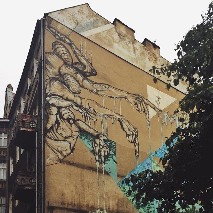 ::: nice mural in wrocław by @skont_nine