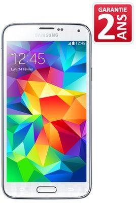 Mobile nu Samsung GALAXY S5 BLANC prix promo Darty 679.00 € TTC