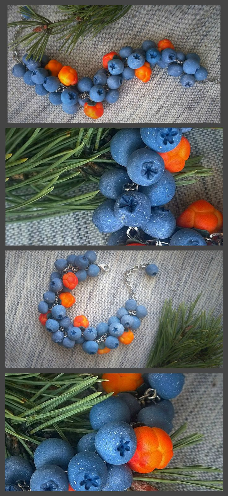 #полимернаяглина #хобби #ручнаяработа #ягоды #зима #черника #морошка #polymerclay #fimo #premo #berries #cloudberry #etsy #blueberry #handmade #wildberries #food #summer #sculpey #silverushka