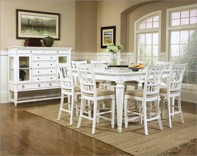 magnussen home furnishings 9 piece ashby gathering table