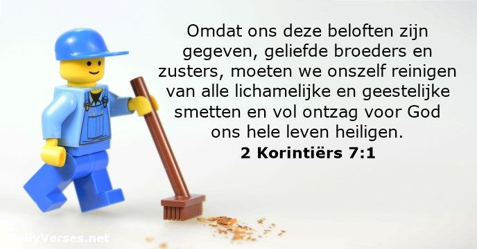 2 Korintiërs 7:1 - dailyverses.net