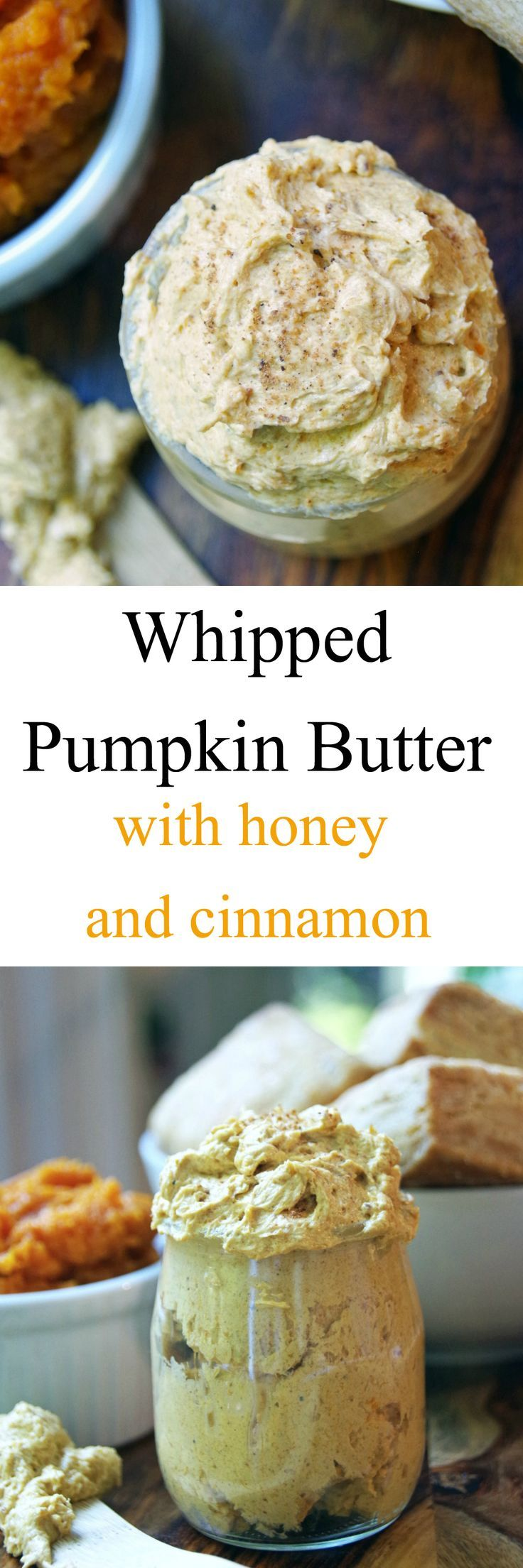 Looking for easy pumpkin recipes? This whipped pumpkin butter with honey and cinnamon is delicious. A pumpkin butter recipe that is so incredibly creamy!