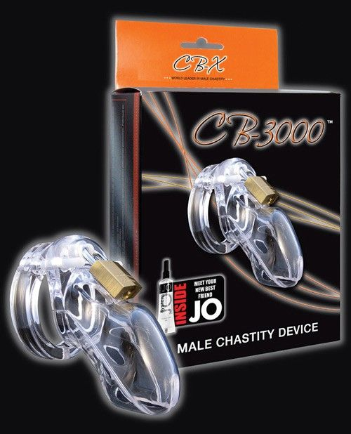 "CB-X CB-3000 3"" Cock Cage and Lock Set - Clear"