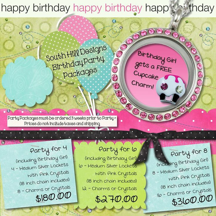 What little girl wouldn't want a special locket for her birthday party?! I know my daughter would love one!   www.southhilldesigns.com/charmlockets www.floatingcharms.net www.facebook.com/floatingcharms.net