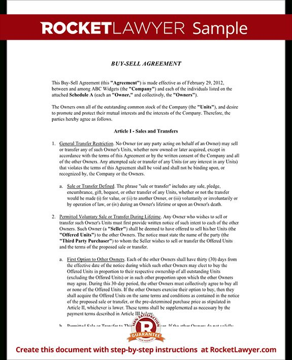 Buy Sell Agreement Template -    wwwvalery-novoselskyorg buy - mutual agreement template