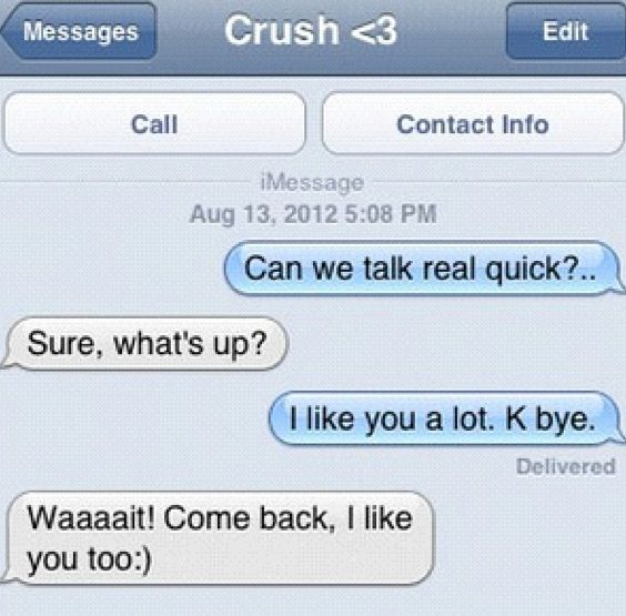 Awwww..  so cute!! <<< I wish this could happen to me... I'm nobody crush... I doubt I ever will be... Seriously why would any guy like me... Foreveralone!!!