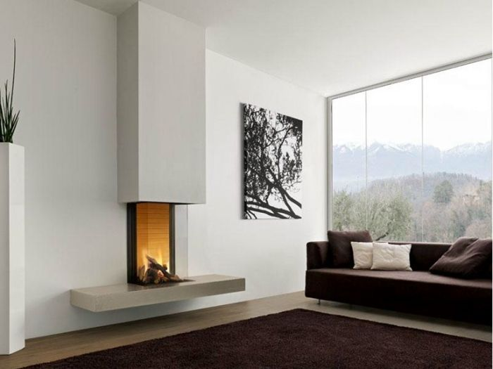 cheminée design moderne à foyer fermé NOTTINGHAM par Piazzetta