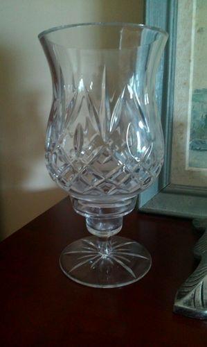 Oneida Hand Cut And Blown Lead Crystal Hurricane Lamp