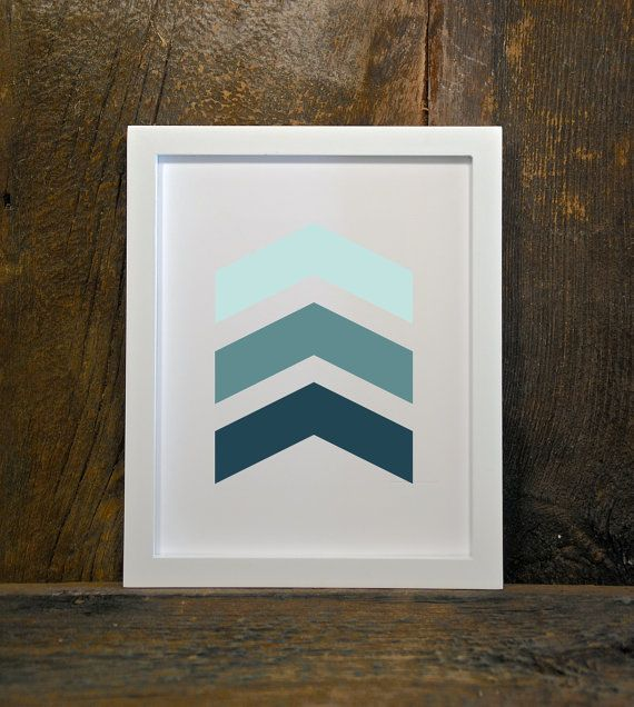 CHEVRONS arrows tribal woodland instant by MountainViewPrints