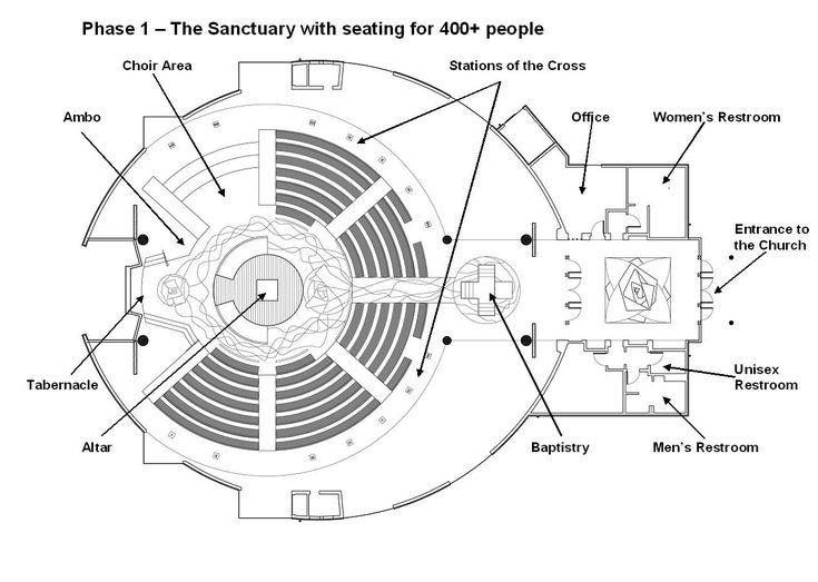 Architectural plan of a church buscar con google for Church floor plan designs