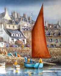23 best images about bernard morinay peintre breton on for Bernard peintre