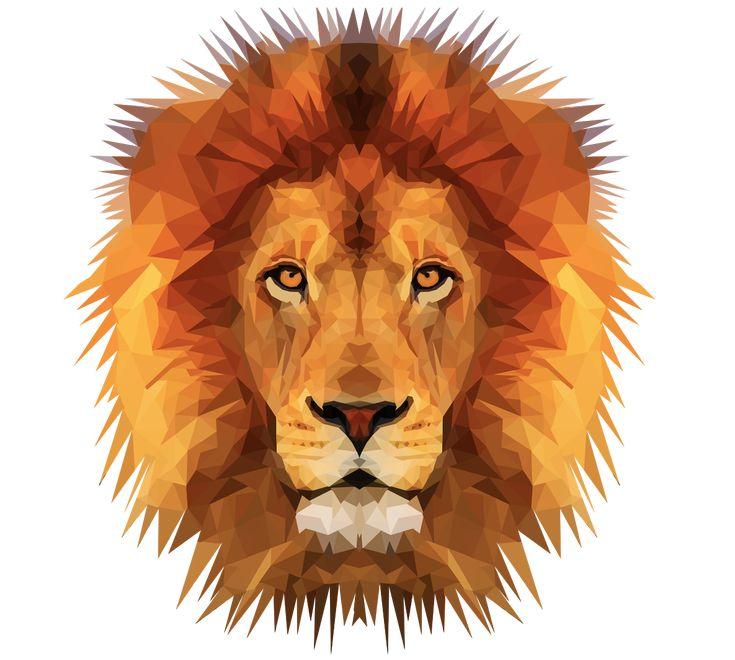 ➳ Emmasimoncic.tumblr.com | Low Poly Lion Illustration