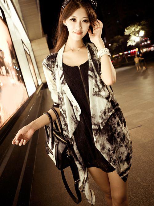 Zanzea® Tie-Dye Floral Chiffon Cardigans Coats