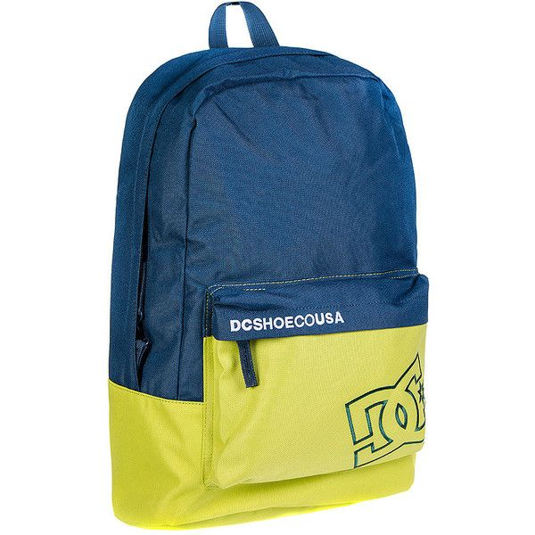 DC Shoes Bunker CB Backpack (Blue/Green) (£27) ❤ liked on Polyvore featuring bags, backpacks, dc shoes, rucksack bag, green backpack, dc shoes backpack and green bags