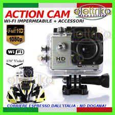 GO CAM SPORT WiFi HD 1080p 12MP VIDEOCAMERA SUBACQUEA ACTION CAMERA SJ4000 PRO