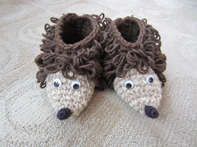 Crochet House Boot Slippers Crochet Toys Crochet Animals Crochet Kids  Slippers Hedgehog for Boy or Girl. Best 22 Kids slippers images on Pinterest   Other
