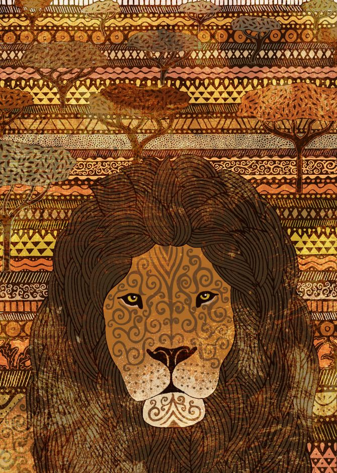 Plight of Lions In The Masai Mara - James Grover Illustration