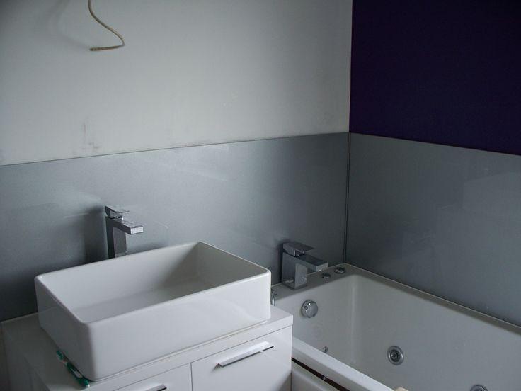 9 best images about bathroom on pinterest pisces design for Sink splashback ideas