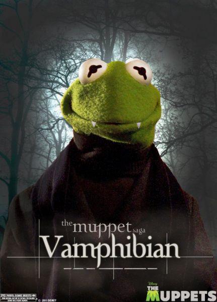 Kermit Von DraculaMovie Posters, Vampires, Picture-Black Posters, Twilight, Kermit, Funny, Breaking Dawn, The Muppets, Muppets Saga